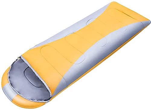 JoHUAZ Solo Saco de Dormir for Adulto, 4 Temporadas Bolso de Dormir de algodón cálido for el Viaje de Campamento al Aire Libre Interior Mochilero (Color: Naranja) (Color : Orange)