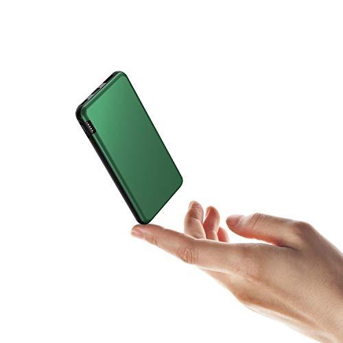 ButcHer Power Bank 10000mah, Caricabatterie Portatile con 2.4A Uscita e 2 Ingressi (USB C+Micro) Batteria Esterna Portatile con LED Indicatore Batteria Compatibile con Smartphone,Tablets e Altro-Verde