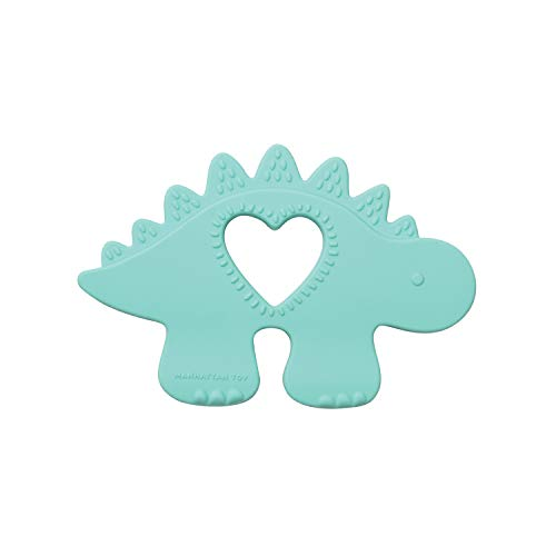 Manhattan Toy Chomp Silicone Teether Dinosauro- MASSAGGIA Gengive Dinosauro