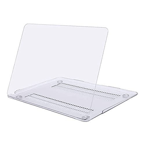 MOSISO Funda Dura Compatible con MacBook Air 13 Pulgadas 2020-2018 A2337 M1 A2179 A1932 con Pantalla Retina & Touch ID,Ultra Delgado Carcasa Rígida Protector de Plástico Cubierta,Cristal