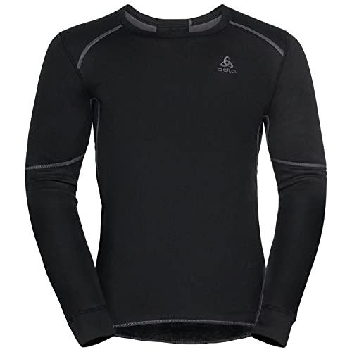 Odlo Men\'s Active X-WARM ECO Long-Sleeve Base Layer top, Black, L