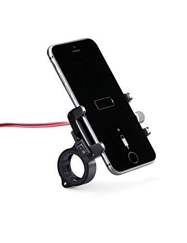 Cargador de mobiles para Motos-Aluminio, Puerto de Carga USB. Ideal para Viajes Largos-MH-Pro USB