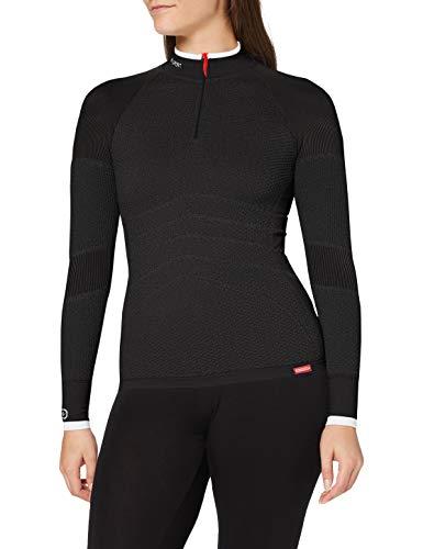 Damart Sport Tee Shirt Zippe Energy 4-63867 sous-vêtement, Anthracite, XL-XXL Femme