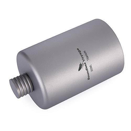 BoundlessVoyage携帯用超軽量スキットルヒップフラスコ高品質チタン製ボトルポータブルフラスコ200ml収納袋付き