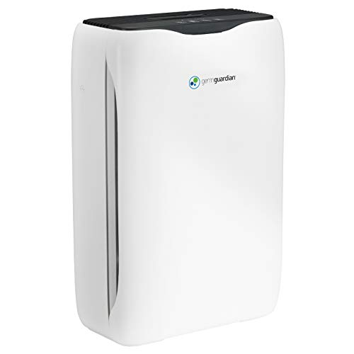 Germ Guardian True Hepa Filter Air Purifier for Home, Office, Bedrooms, Filters Allergies, Pollen, Smoke, Dust, Pet Dander, Mold, & Odors, Deodorizer with Ionizer, Quiet 3-in-1 AC5600WDLX