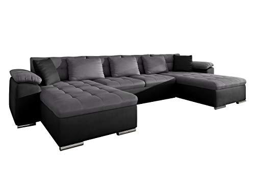 Ecksofa Wicenza! Design Big Sofa Eckcouch Couch! mit Schlaffunktion Bettfunktion! Wohnlandschaft! U-Form, Große Farbauswahl (Manila 19 + Manila 16 + Manila 19)