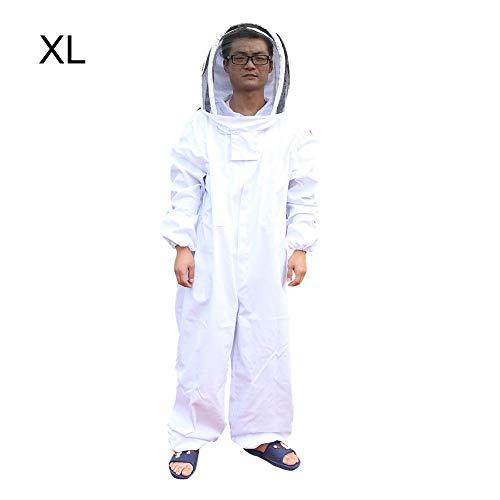 Bijenteelt pak met sluier dikke bijenteelt beschermende pak voor imker Beginners bijenteelt jas met imker hoed L-XXL XL wit