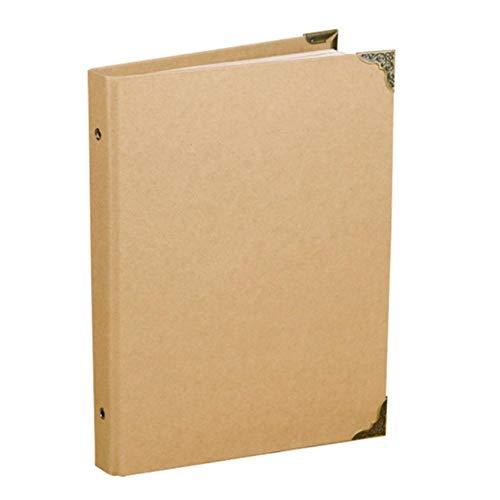 EDCV DIY/blanco fotoalbum omslag bruiloft zelfklevend album foto voor reizen 30 pagina's accordeon handgemaakte plakboek albums papier, wit