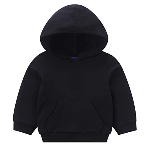 Taigood Baby Jungen Mädchen Mit Kapuze Sweatshirts Frühling Winter Warm Sweatshirt Pullover Infant Hoodies Pyjama Tops Schwarz 110cm/3-4 Jahre