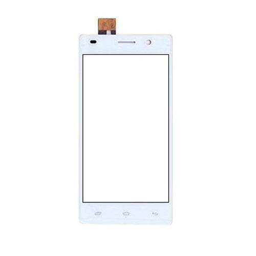 Touch Screen Digitizer Glass for Intex Aqua Power+ White