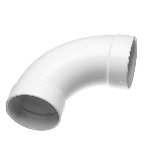 vhbw 90° Rohrbogen, lang, innen/innen passend für Zentral-Staubsaugeranlage, 50.8mm Durchmesser / 2\'\'Rundrohrsystem