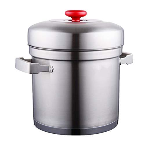 WALNUTA 304 Acero Inoxidable Sopa de crisol de la Sopa Sopa de cocido al Vapor arroz al Vapor desbordamiento del guisado Cocinar Suplemento Alimentación Infantil del Regalo de Boda