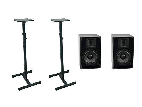 Omnitronic Set Braccio-6.5 Studio Monitor 2X MO-1 Kapselhalter schwarz