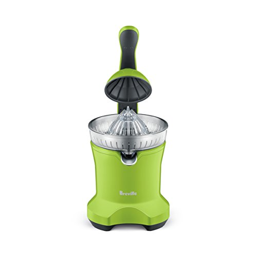 Breville Motorized Citrus Press Juicer, Includes Juicing Cone Designed for All Citrus Sizes - BCP600 (Lime)