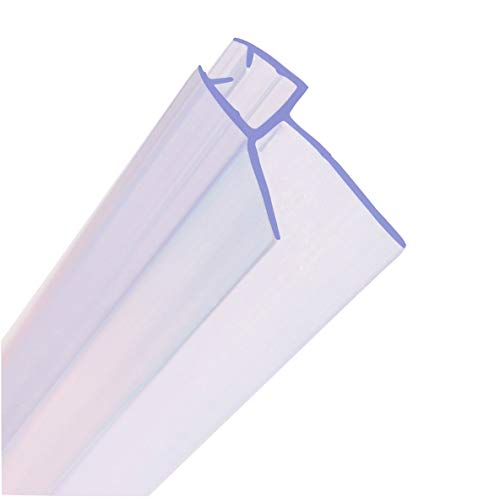 MNNHOME Bad Duschwand Türdichtung für 4–6mm gerades/gebogenes Glas für einer Lücke von bis zu 20mm