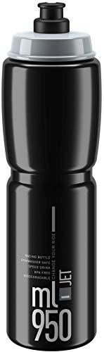 Trinkflasche Elite Jet schwarz grau 950 ml