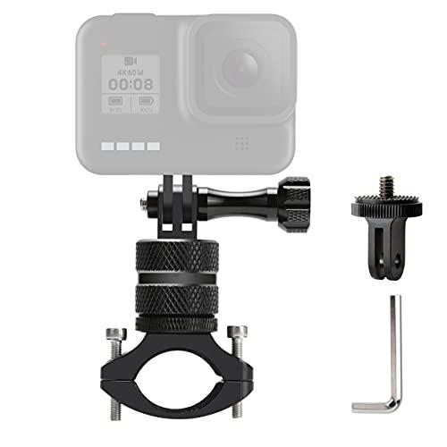 Lammcou 2in1 Fahrrad Kamera Halterung für Go Pro Fahrrad Lenkerhalterung Fahrradhalter Mountainbike Motorrad Halter für Hero 10 9 8 7 Max Fusion Session Hero+ Yi 4K Osmoaction Camera Bike Mount