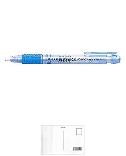 トンボ鉛筆 ホルダー消しゴムモノ3.8透明ブルー EH-KE40 消しゴム 【× 30 個 】 + 画材屋ドットコム ポストカードA