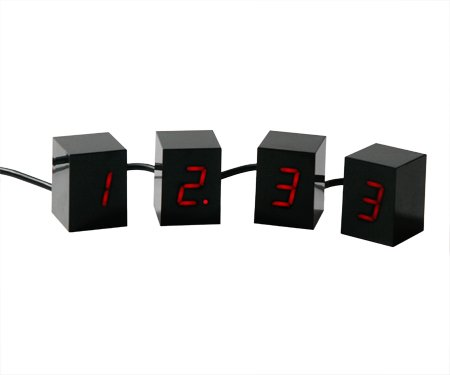 Areaware Open Edition Numbers LED Alarm Clock in Black
