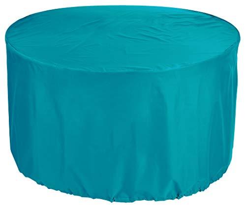 KaufPirat Premium afdekzeil rond Ø 150x85 cm tuinmeubelen tuintafel afdekking beschermhoes afdekhoes outdoor rond patio table cover turquoise