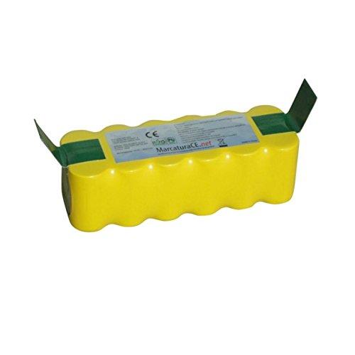 Batteria 4500mAh ricaricabile per aspirapolvere iRobot Roomba 500 Serie (520-530 - 550-555 - 560-562 - 564-580 - 581-770 - 780) || 4500mAh || 14,4V || NiMH