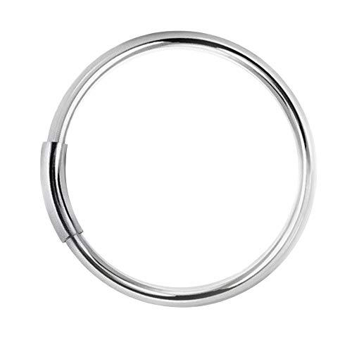 Piercing Ring 925 Sterling Silber dünn Hoop Ohrpiercing Lippenring und Nasenpiercing (tunnel closure) (7.0)