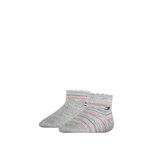Tommy Hilfiger Multicolour Baby Socks (2 Pack) Calcetines, gris claro, 19/22 para Bebés