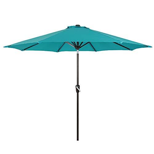 ZXL Sonnenschirme 7.4ft / 2,25m Außen Markt Sonnenschirm, Blaue Sonnenschirme Sonnenschirm für Garten/Strand/Pool/Deck, Druckknopfneigung, Kurbelhub
