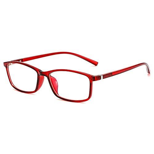 GEMSeven Blau Rot Schwarz Transparenter Rahmen Fertige Myopie Brille