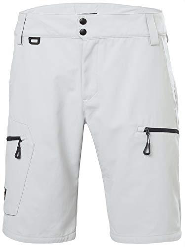 Helly Hansen Crewline Cargo Shorts Pantalones Cortos, Hombre, Grey Fog, 36