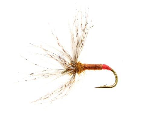 riverpeak フライ 逆さフライ 毛鉤 テンカラ用 和式タイプ #12 4本セット 橙