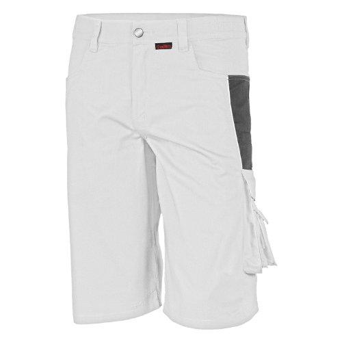 Qualitex Qualitex PRO Shorts MG245 - weiß/grau - Größe: 46