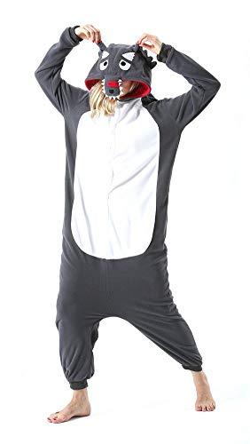 Pijama Onesie Adultos Mujer Cosplay Animal Disfraces Halloween Carnaval Cosume Lobo M
