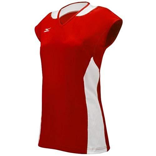 Mizuno Women's Classic Mystic Cap Sleeve Jersey, Red/White, XX-Small