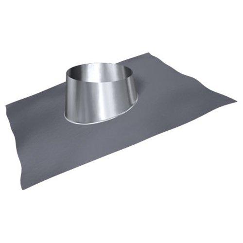 MK sp. Z o.o. Schornstein, Dachdurchführung 5°-20°, Edelstahl, Bleikragen, Lochdurchmesser 200 mm (DW 120) Edelstahl glänzend Keine Farbe wählbar