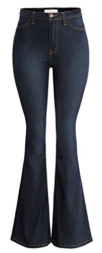 URBAN K Damen Jeans Classic High Waist Denim Bell Pants