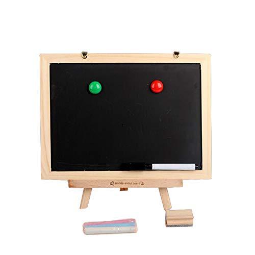 Tableau Chevalet Enfant Double Face Magnétique Tableau Noir et Blanc Accessoires Puzzle Jouet Educatif pour Enfants