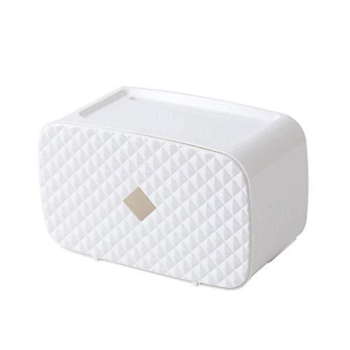 zyl Soporte para Toallas de Papel Multifuncional Sin perforar Tipo Colgante de Pared Estante de Almacenamiento de Papel higiénico Caja de extracción de Papel Blanco