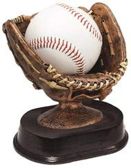 Decade Awards Baseball Glove Ball Holder Trophy, Bronze - Game Ball Holder Award - 5 Inch Tall - Engraved Plate on Request