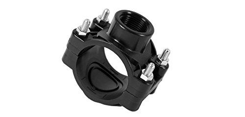 Anbohrschelle für Regner 25,32,40,50,63,70 mm PE-Rohr Profil-Qualität Verbinder (25mmx3/4