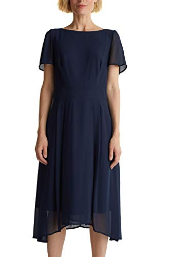 ESPRIT Collection Damen 040EO1E326 Kleid, 400/NAVY, 36