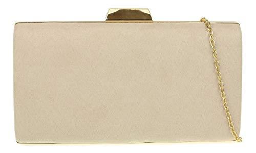 Girly Handbags Caja leopardo del bolso de embrague duro (Desnudo)