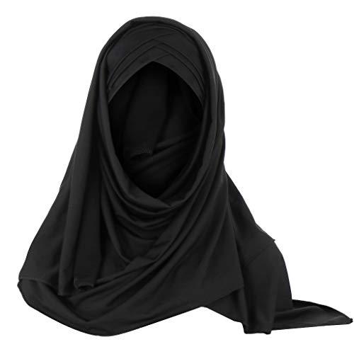 ZEELIY Muslimische Kleider Damen Muslim Strecken Kopftuch Islamischen Abaya Dubai Frauen Elegante Gesichtsschleier Lose Turban Hidschab Schal Ramadan Kopfbedeckung Hijab Bandana