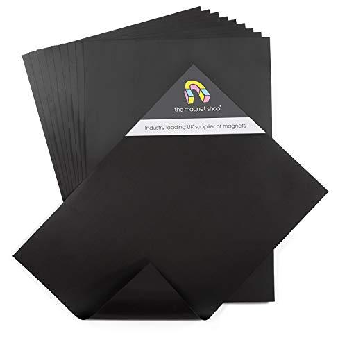 The Magnet Shop Magnetplatten in A4 – flexible 0.4mm Magnete zur Aufbewahrung von Stanz- und Prägeschablonen & zum Basteln – 10er Set