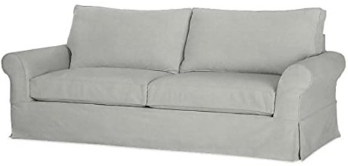 "The Cotton Sofa Cover (Width: 81""~ 83.5"", Not 92"" !) Fits Pottery Barn PB Comfort Roll ARM Sofa (Not Grand Sofa). A Durable Slipcover Replacement (Light Gray for Box Edge)"