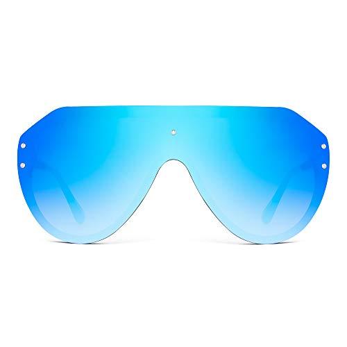 clasificación y comparación JIM HALO Gafas de sol sin montura de protección de gran tamaño con parte superior plana Espejo de vidrio Mujer Hombre (Montura … para casa