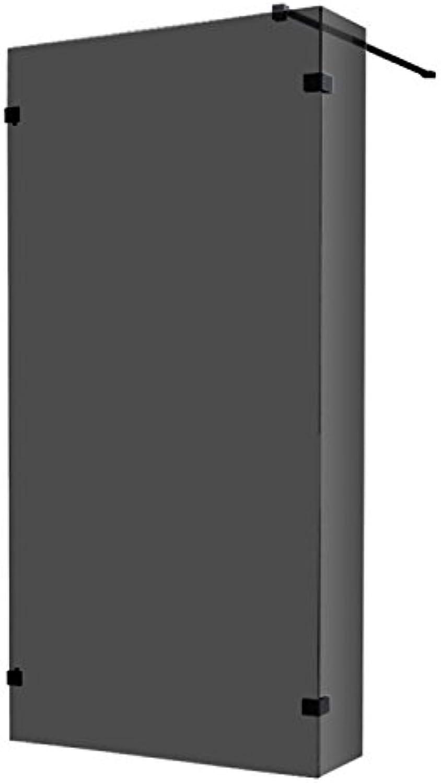 AWT Duschwand LY0901-B schwarz 90x210