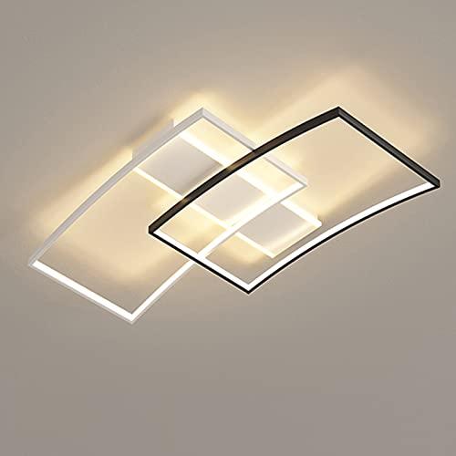 YZH Control Inteligente Sencillas geométricas Creativas geométricas, Luces de Techo LED con Temperatura de Color Ajustable, utilizadas en Corredores, Salones, Estudios, Corredores, Patios, etc.