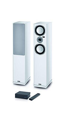 Magnasphere 55 | Vollaktives kabelloses High-End-Lautsprechersystem | zahlreiche Eingänge (Cinch, Toslink, USB, Bluetooth, aptX) | 1 Paar - weiss