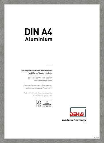 DEHA Aluminium Bilderrahmen Tribeca, 21x29,7 cm (A4), Struktur Grau Matt